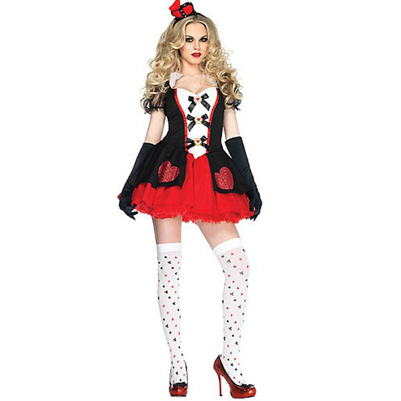 LV8033 Adult Enchanted Queen of Hearts Costume