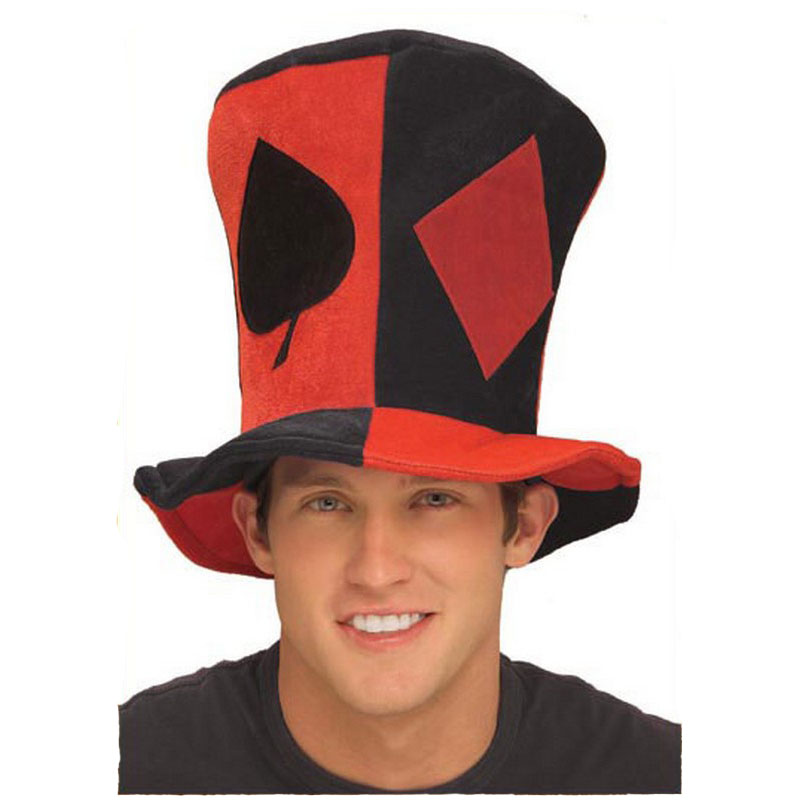 LH3141 Costume Hats Poker Suits Halloween Top Hat