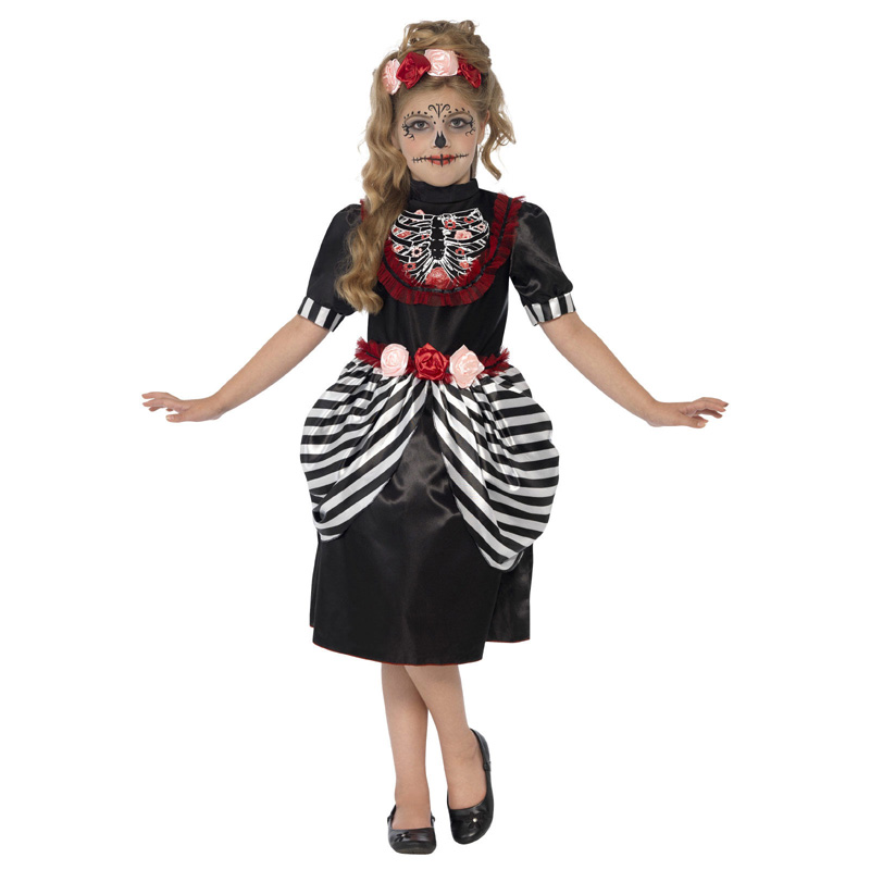 LKG6312 Sweet Sugar Skull Skeleton Dress